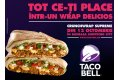 Pe 12 octombrie, Taco Bell se deschide oficial in Romania in Baneasa Shopping City