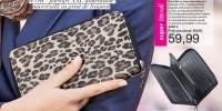 Portofel cu imprimeu leopard