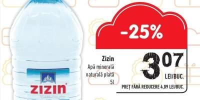 Apa minerala naturala plata 5 L Zizin
