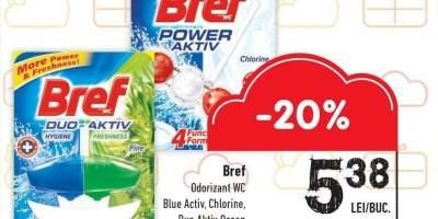 Odorizant WC Blue Activ/ Chlorine/ Duo Aktiv Ocean Bref