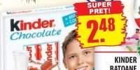 Kinder, batoane de ciocolata cu lapte