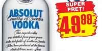 Absolut, blue vodka