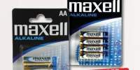 Maxell, Set 4 baterii alcaline, AA / AAA