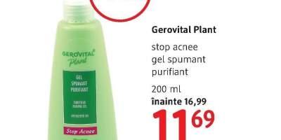 Gel spumant impotriva acneei Gerovital Plant