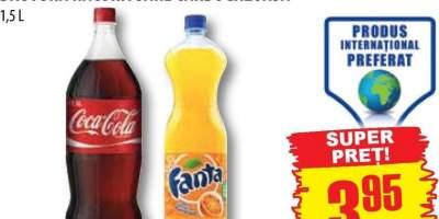 Coca-cola / fanta portocale / bautura racoritoare carbogazoasa