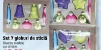 Set 7 globuri de sticla