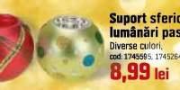Suport sferic pentru lumanari pastila