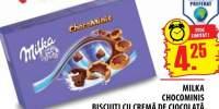 Milka Chocominis, biscuiti cu crema de ciocolata