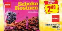 Schoko Rosinen, stafide invelita in ciocolata
