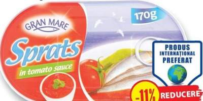 Gran mare, sprot in sos tomat