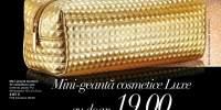 Mini-geanta metalica de cosmetice Luxe