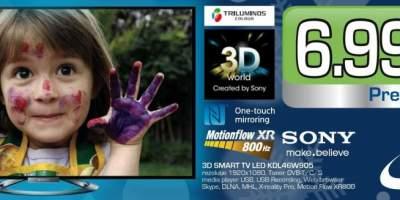 Televizor Sony, 3D Smart Tv LED KDL46W905