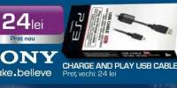 Sony, Charge and play USB Cable 2.8 M