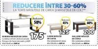 Reducere intre 30-60% la toate masutele de cafea si masutele de colt