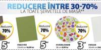 Reducere intre 30-70% la toate servetele de masa