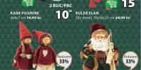 Reducere intre 20-40% la toate figurinele si jucariile de Craciun