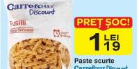 Paste scurte Carrefour discount