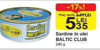 Sardine in ulei Baltic Club