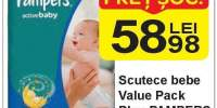 Scutece bebe Value Pack Plus Pampers