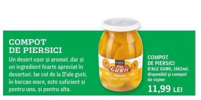 Compot de persici D'ale Gurii