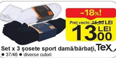 Set x3 sosete sport dama/brbati