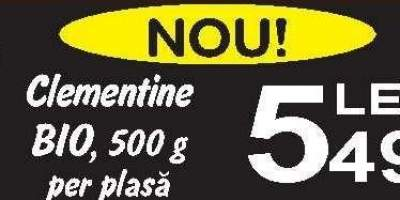 Clementine Bio, 500 g per plasa