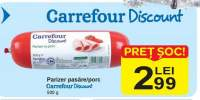 Parizer pasare/porc Carrefour Discount