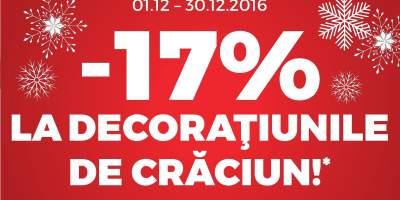 17% Reducere la decoratiunile de Craciun