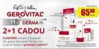 Cumpara oricare 2 produse din gama Gerovital si pe al treilea il primesti CADOU!
