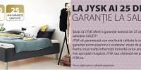 Garantie saltele 25 de ani de la JYSK
