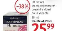 Crema regenerare/ prevenire riduri Gerovital H3 retinol