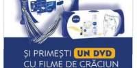 La un pachet cadou Nivea primesti gratis un DVD cu filme de Craciun