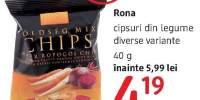 Cipsuri din legume Rona