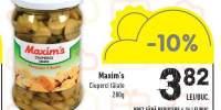 Ciuperci taiate Maxim's