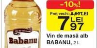 Vin de masa alb Babanu