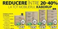 Reducere intre 20-40% la tot mobilierul Kabdrup