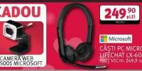 Casti PC Microsoft Lifechat + camera web Microsoft cadou