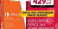 Office 365 Home Premium Microsoft + HDD Seagate 500GB cadou
