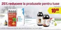 25% Reducere la produsele pentru tuse