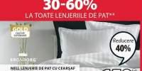 Reducere intre 30-60% la toate lenjeriile de pat!