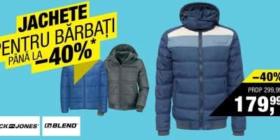 Jachete pentru barbati reducere pana la 40%