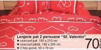 Lenjerie pat 2 persoane Sf Valentin