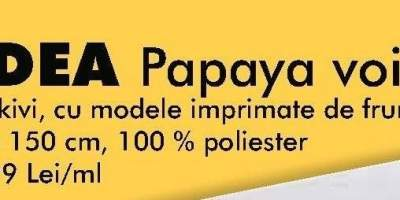 Perdea Papaya voile