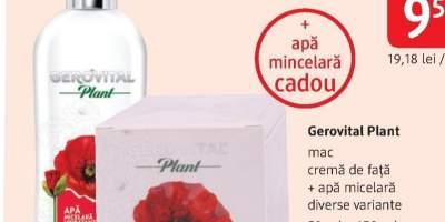 Crema de fata si apa micelara Gerovital Plant