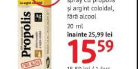 Spray cu propolis si argint colodial fara alcoole Dacia Plant