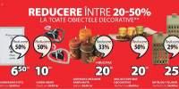 Reducere intre 20-50% la toate obiectele decorative