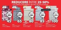 Reducere intre 25-50% la toate lenjeriile de pat Plus si Gold