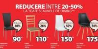 Reducere intre 20-50% la toate scaunele de dining