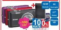 Aparat foto Nikon S2700 + card 4 GB + husa