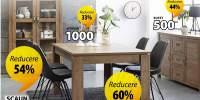 Reducere intre 30-60% la toate mesele si scaunele de dining